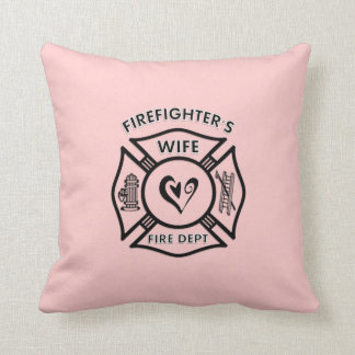 Firefighters Wife Throw Pillows