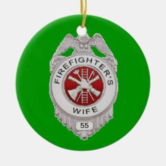 Firefighter's Wife Custom Round Ceramic Decoration