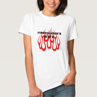 Firefighter's Wife Flames Tshirts