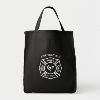 Firefighter's Wife Grocery Tote Bag