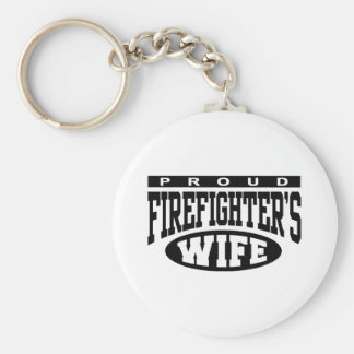 Firefighter's Wife Basic Round Button Key Ring