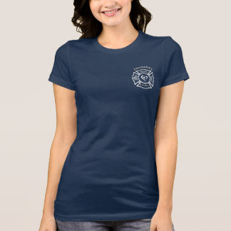 Firefighters Wife Maltese Heart T Shirts