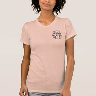 Firefighters Wife Maltese Heart Tshirts