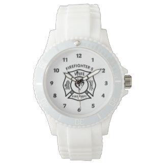 Firefighters Wife Maltese Heart Wristwatch