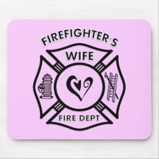 Firefighter's Wife Mousepad