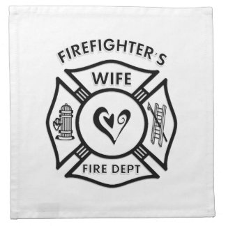 Firefighters Wife Printed Napkins