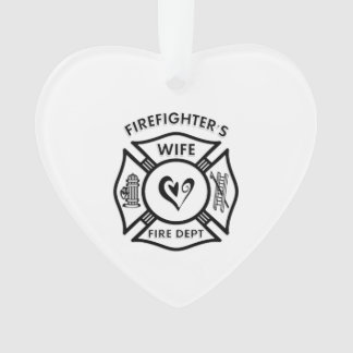 Firefighters Wife Ornament