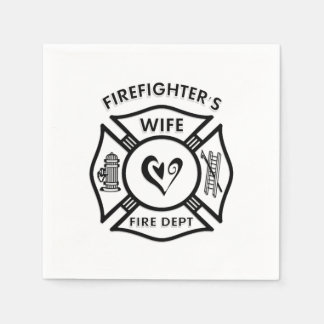 Firefighters Wife Disposable Serviettes