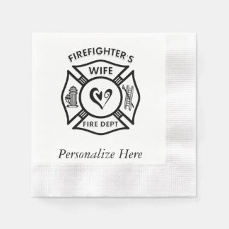 Firefighters Wife Paper Napkins
