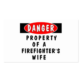 Firefighters Wife Property Business Card