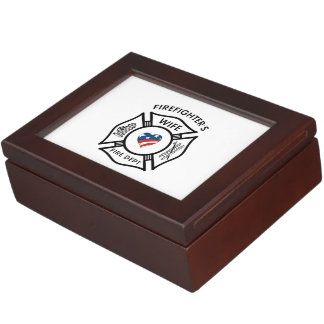 Firefighters Wife USA Memory Box