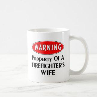 Firefighters Wife Warning Coffee Mug