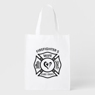 Firefighters Wife Grocery Bag
