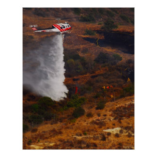 Firefighting Helicopter Poster