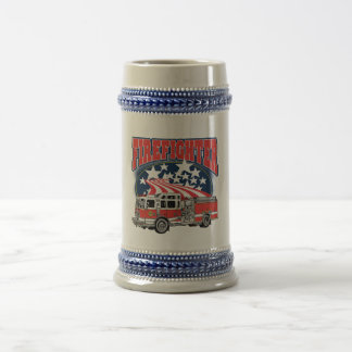 Firefighting Truck Beer Stein