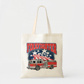 Firefighting Truck Budget Tote Bag