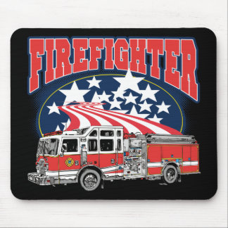 Firefighting Truck Mouse Mat
