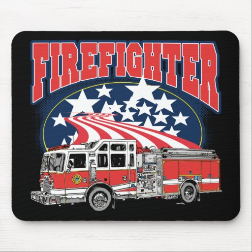 Firefighting Truck Mouse Pads