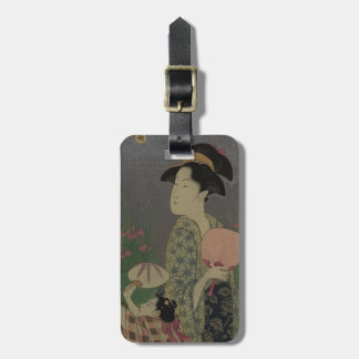 Fireflies, 1793 (colour woodcut) luggage tag