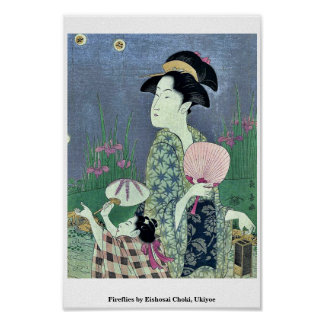 Fireflies by Eishosai Choki, Ukiyoe Print