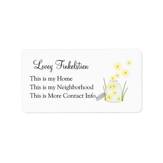 Fireflies Flying Address Label