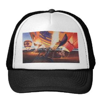 """""""Fireflies"""" Hot Air Balloon Watercolor Hat"""