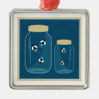 Fireflies Mason Jar Christmas Ornament