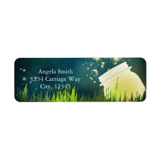 Fireflies + Mason Jar Rustic Night Address Labels