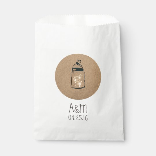 Fireflies Mason Jar Rustic Wedding Favour Bags