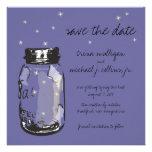 Fireflies & Mason Jar Save the Date Invitations