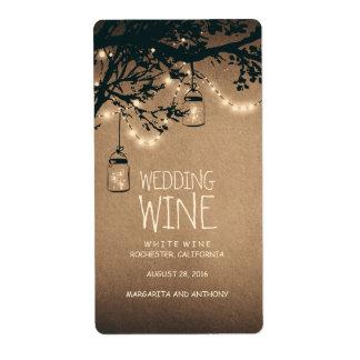 Fireflies Mason Jars Rustic Wine