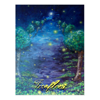 Fireflies Postcard