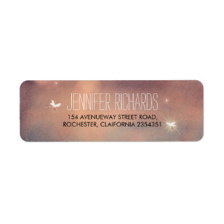 Fireflies Wedding Rustic Return Address Label