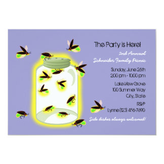 Firefly Frolic Party 13 Cm X 18 Cm Invitation Card