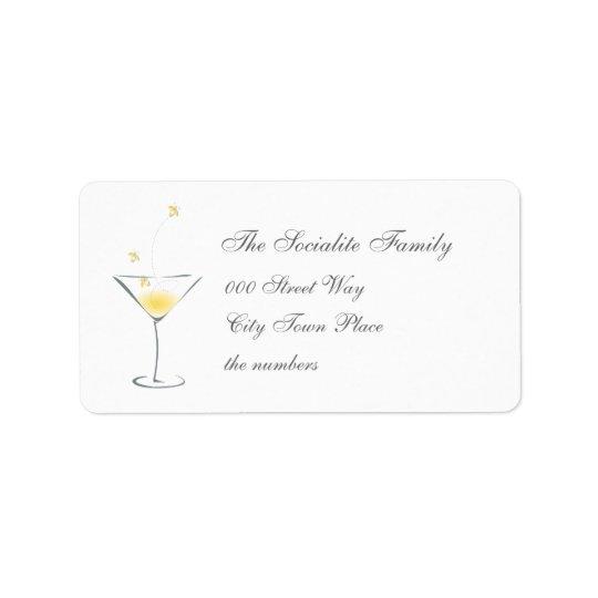 Firefly Martini Address Label