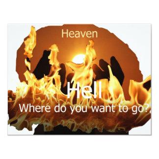 fireheaven1 11 cm x 14 cm invitation card