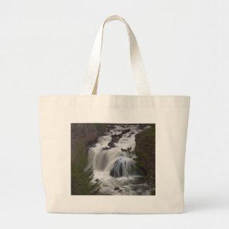 Firehole Falls At Dusk Canvas Bag