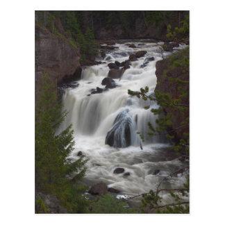 Firehole Falls At Dusk Postcards