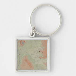 Firehole Geyser Basin Silver-Colored Square Key Ring