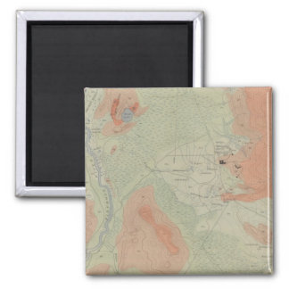 Firehole Geyser Basin Square Magnet
