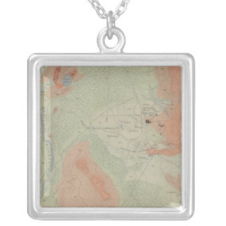 Firehole Geyser Basin Square Pendant Necklace