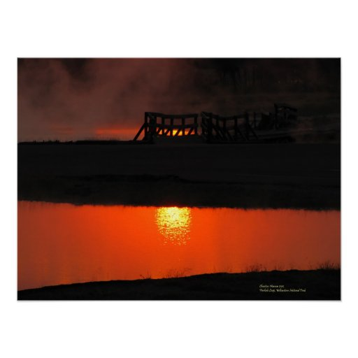 Firehole Loop at Sunset Posters