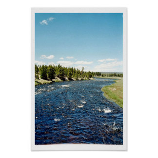 Firehole River - Yellowstone National Park Poster