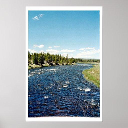 Firehole River - Yellowstone National Park Print