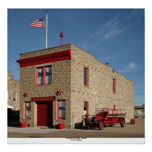 Firehouse, Goldfield, Nevada Poster
