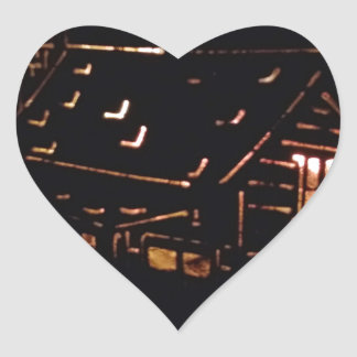 FIRELIGHT CABIN HEART STICKER