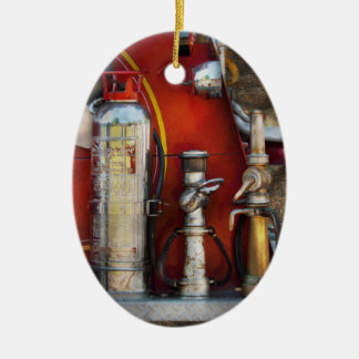Fireman - An Assortment of Nozzles Ceramic Oval Decoration