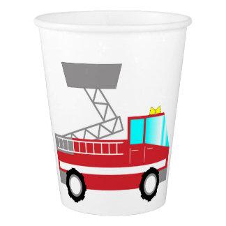Fireman birthday paper cups   Fire truck