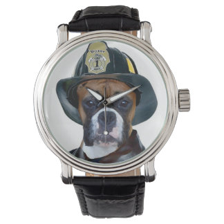 Fireman Boxer Dog Watch
