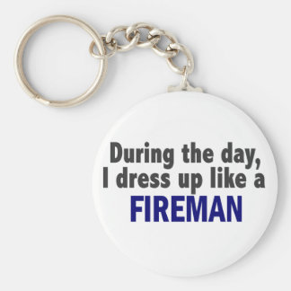 Fireman During The Day Key Ring